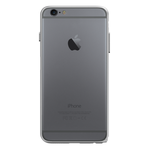 Slim Aerospace Aluminum Bumper for iPhone 6s Plus, Silver