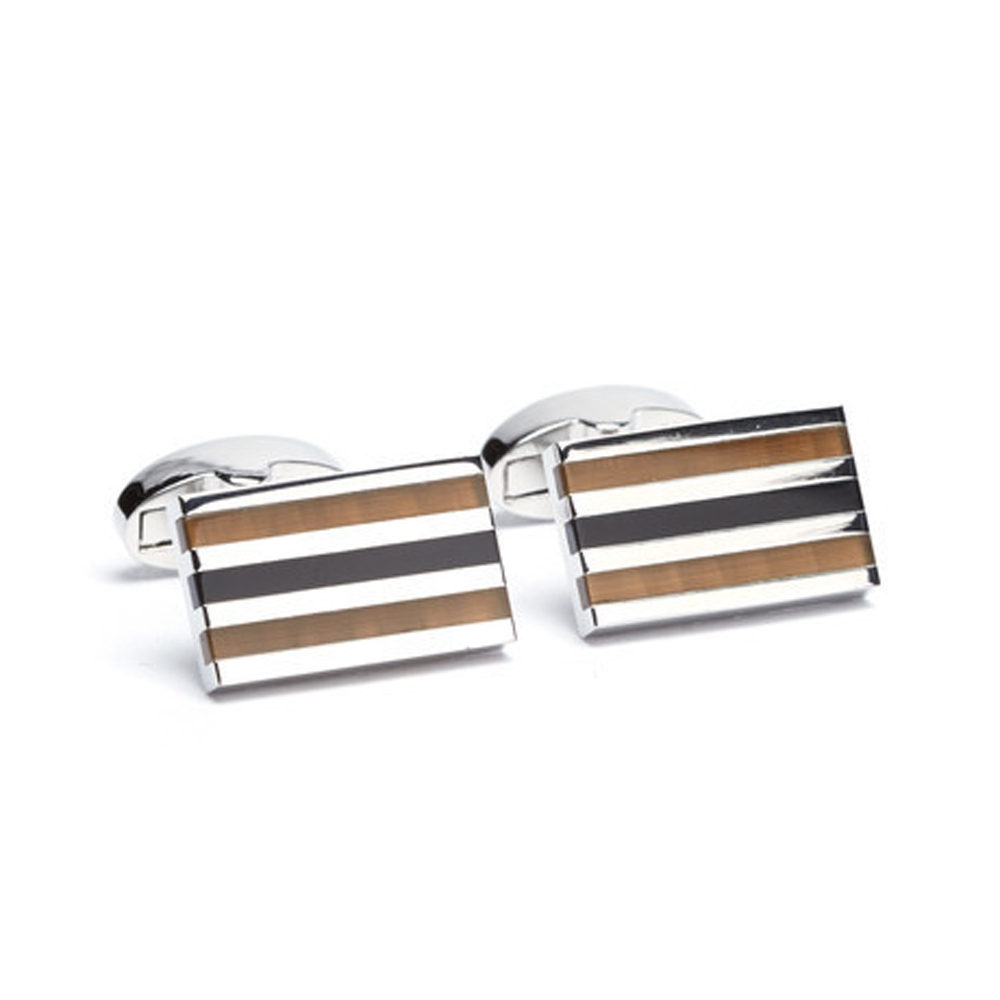 FlipMyTie Men's Brown & Hazelnut Cufflink