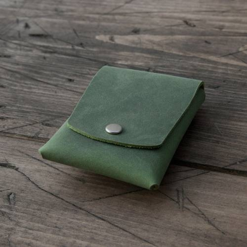 Green Snap Card Case