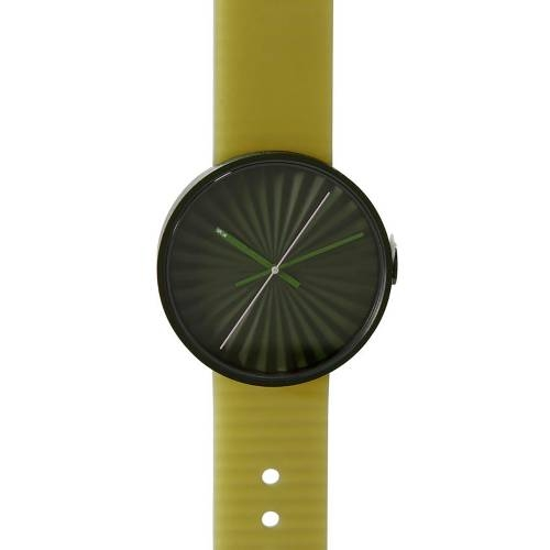 Green Plicate Watch with 3D Dial