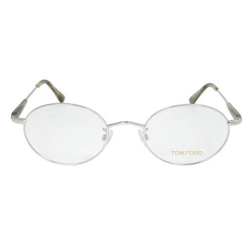 Shiny Palladium Oval Eyeglasses Frame   Size 51