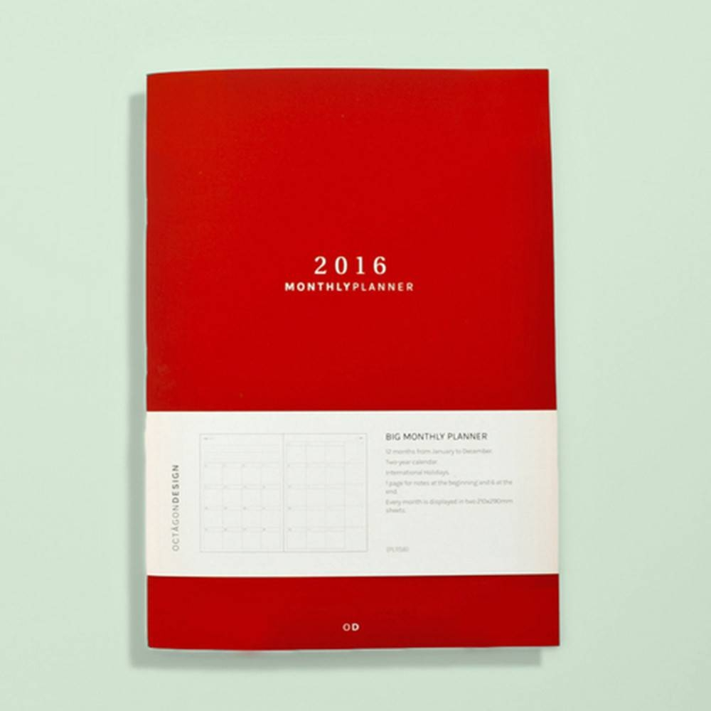 Big Monthly Planner | Octagon Design
