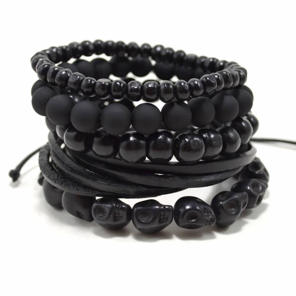 Tag Twenty Two   5 Pack Black Out Bracelet