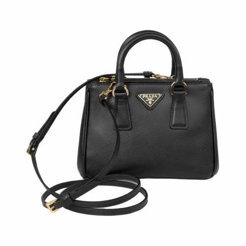 Mini Black Saffiano Leather Tote