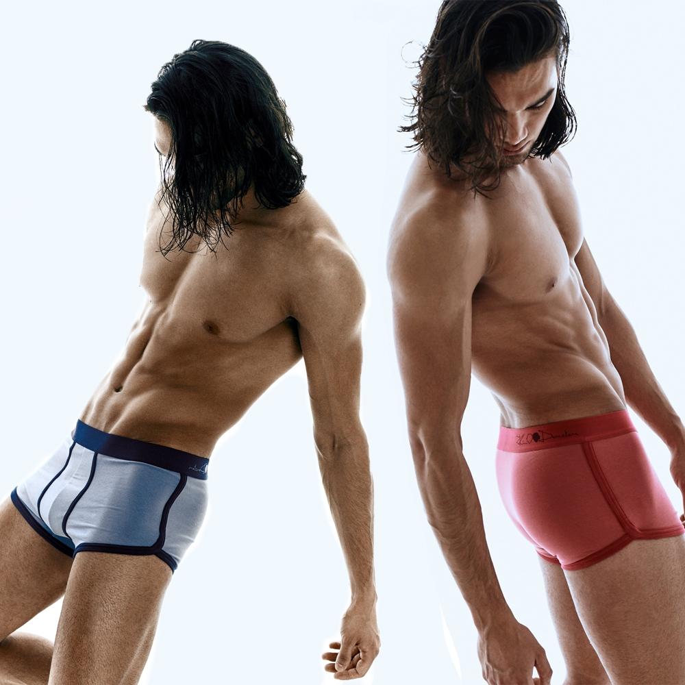 Kim Denzler 2-pack Boxer Briefs   Blue + Red