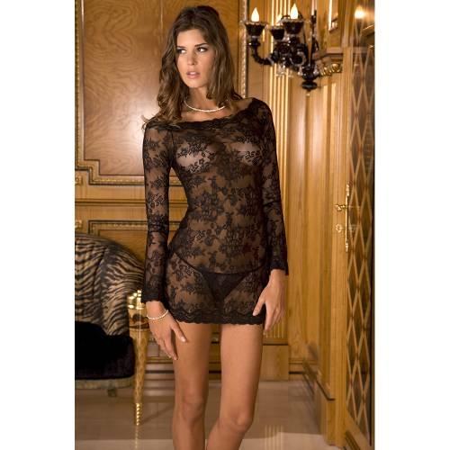 René Rofé   2-Piece Long Sleeve Chemise Dress Set