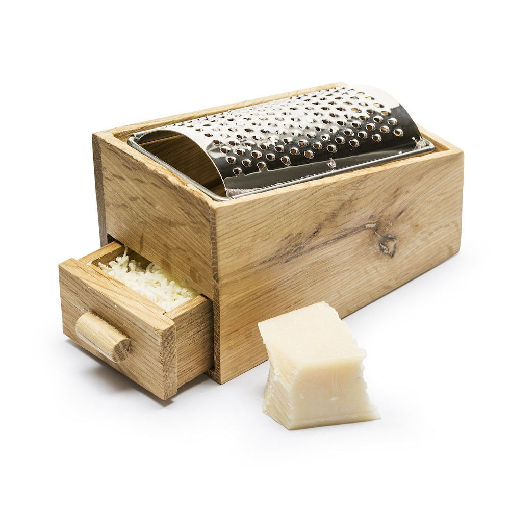Oak Cheese Grater With Collection Drawer   Sagaform