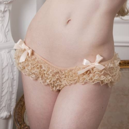 Vintage Cream Frilly Brief