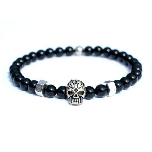 Silver Skull Bracelet   Who's Lookin' Design