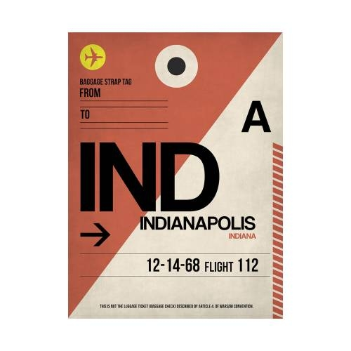 NaxArt | IND Indianapolis Poster
