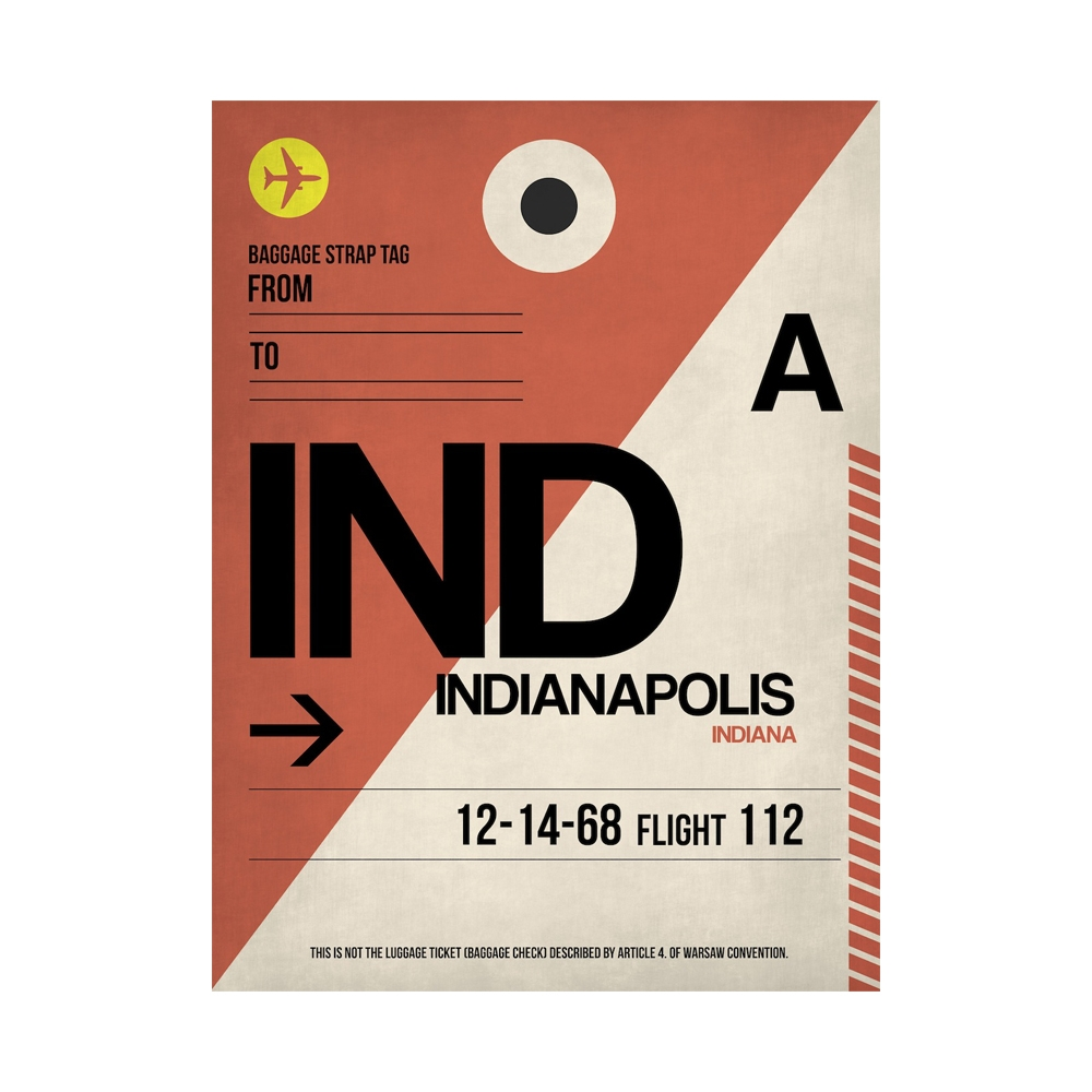 NaxArt   IND Indianapolis Poster