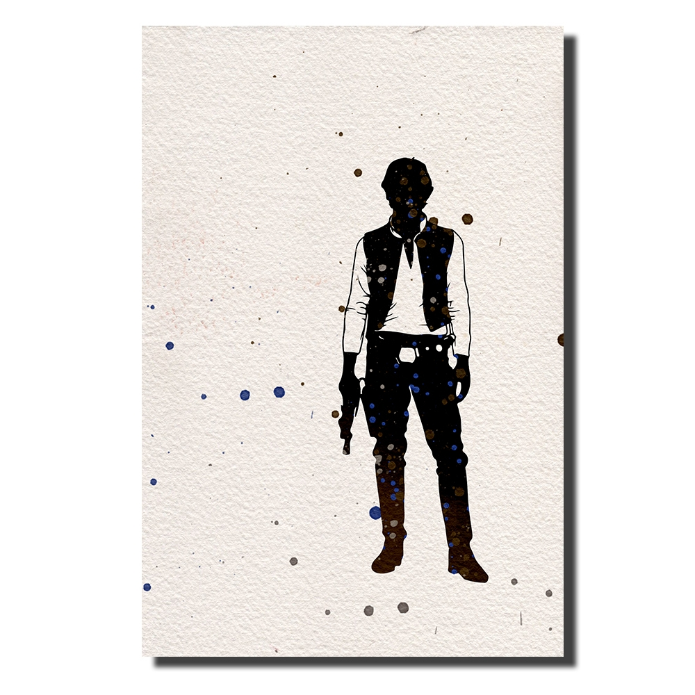 Han Solo Watercolor | Power Cosmic