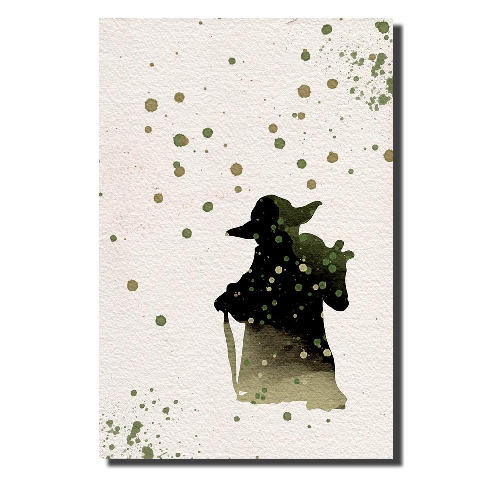 Yoda Watercolor | Power Cosmic