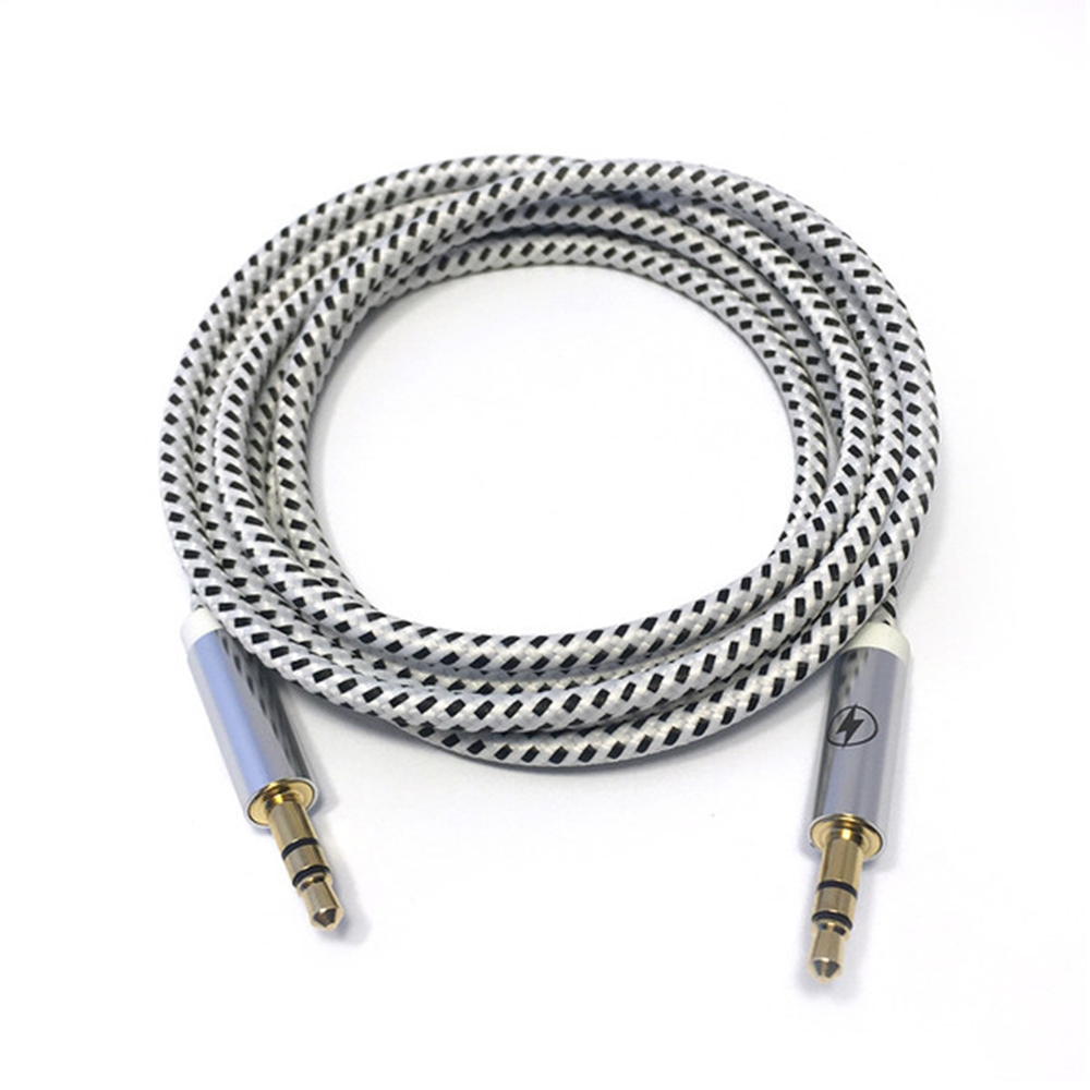 Black & White Auxiliary Cable   Charge Cords