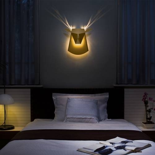 Aluminum Deer Head LED light fixture | Electricity Plug