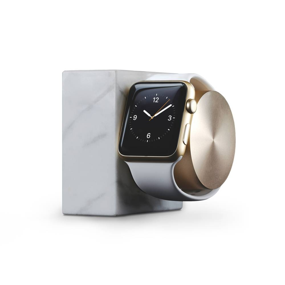 Apple Watch Dock   Native Union   White Marble