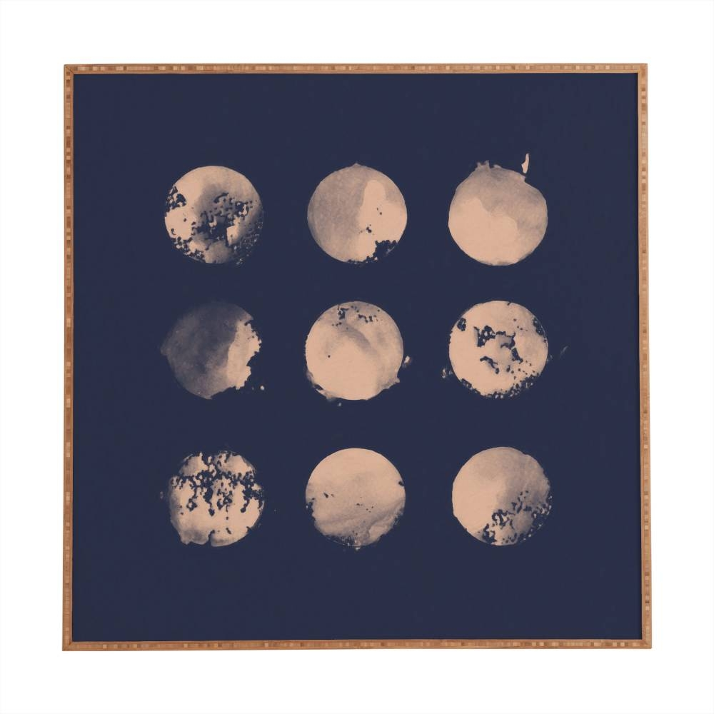 Douze Lunes Florent Bodart Framed Wall Art   Deny Designs