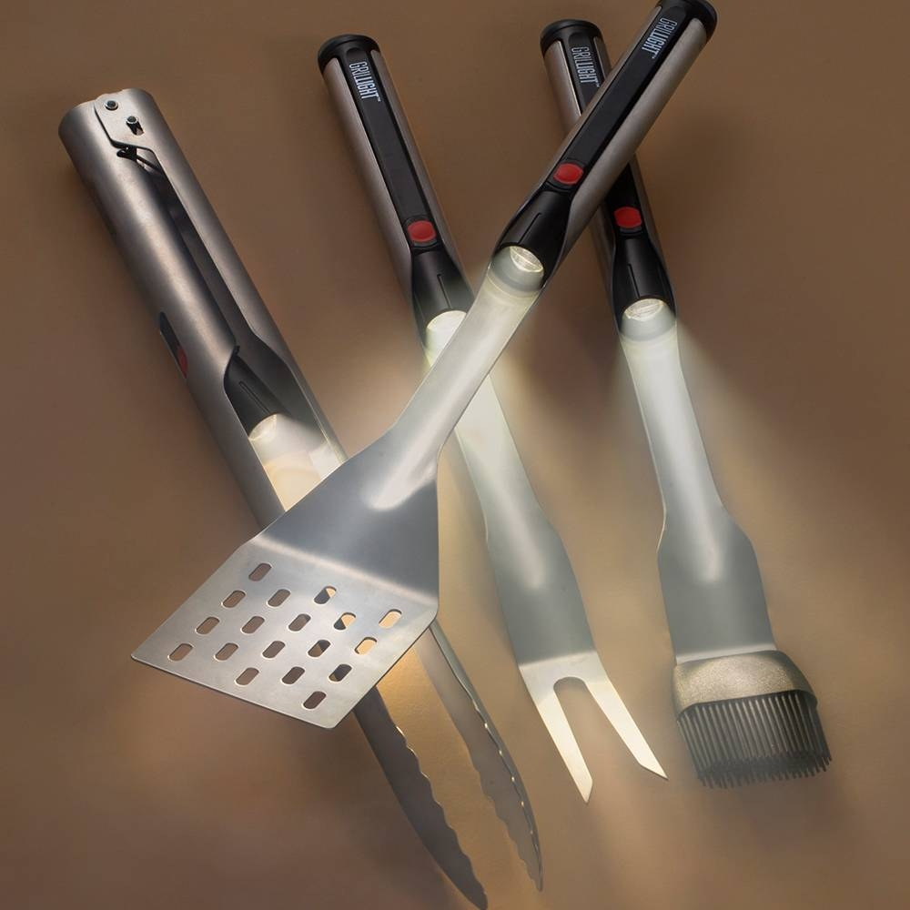 Grillight 4 Piece BBQ Tool Set