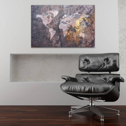 World map on stone background by michael tompsett gumiabroncs Gallery
