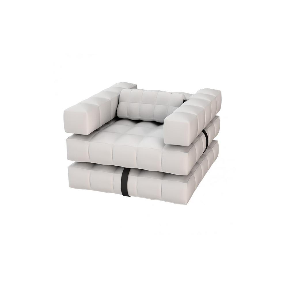 Armchair / Single Lounger Set   Matte White   Pigro Felice