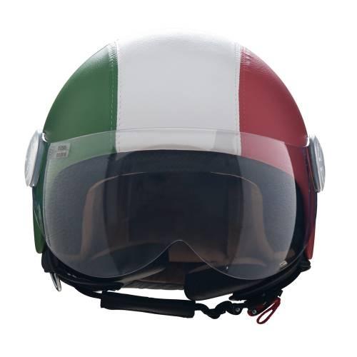 Leather Helmet | Italian Flag
