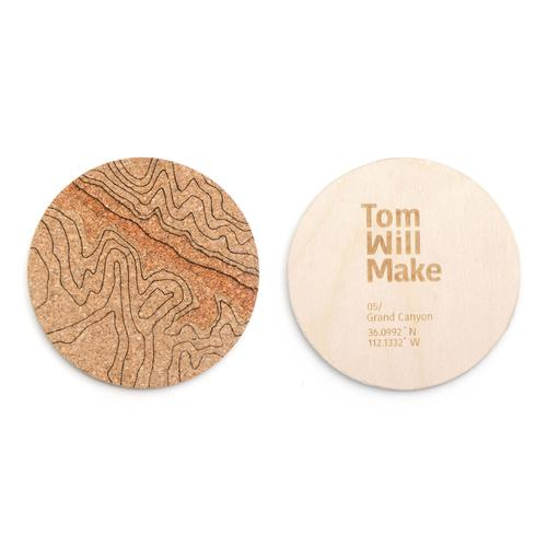 Topo Coasters | Set of 4 | Grand Canyon