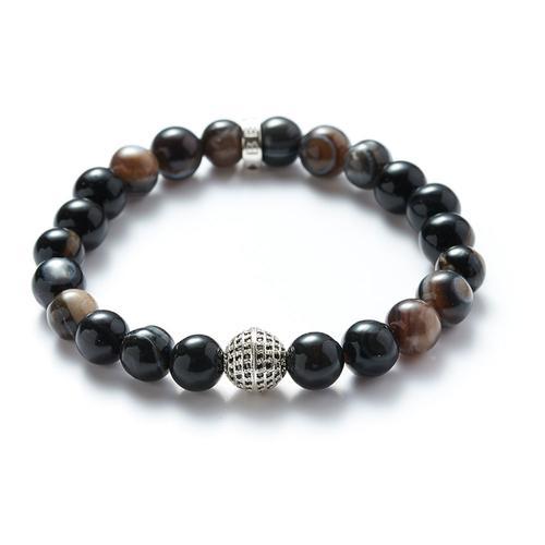 Agate | Silver Ball Bracelet