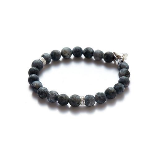 Labradorite | Silver Wolf Bracelet
