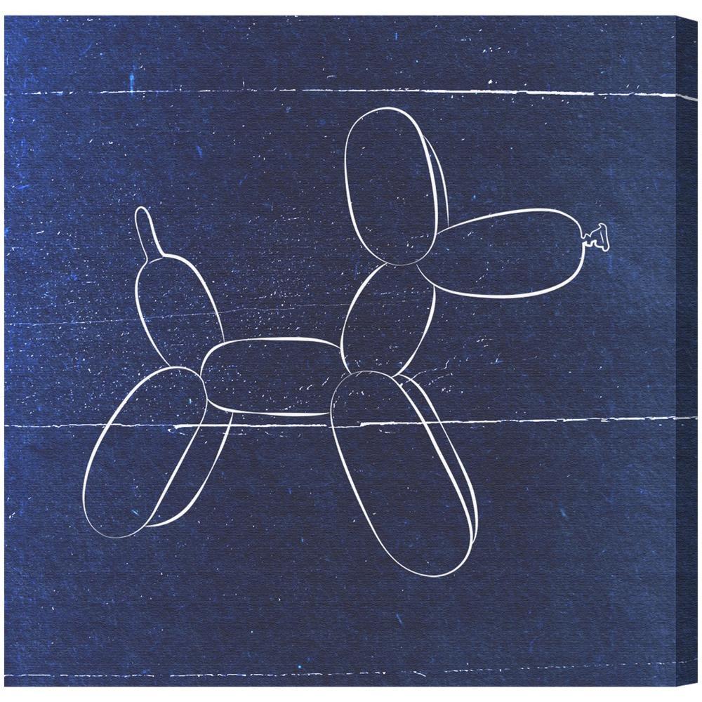 ethan balloon dog blueprint canvas art hatcher ethan balloon dog blueprint canvas art malvernweather Images