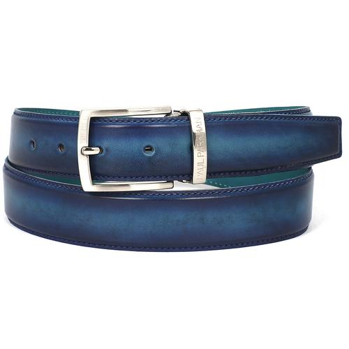 Men's Leather Belt Dual Tone | Blue & Turquoise