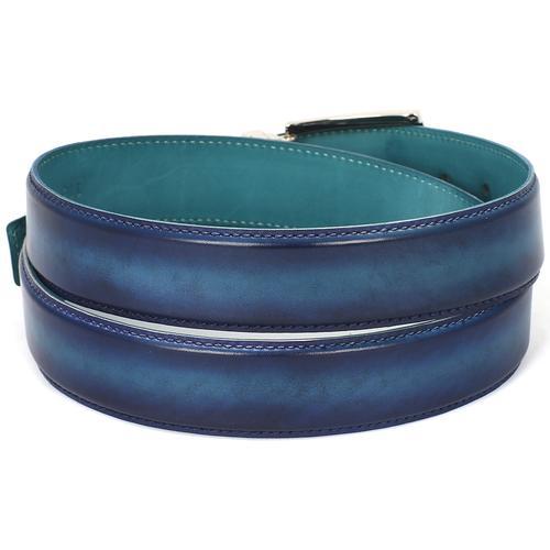 Men's Leather Belt Dual Tone | Blue & Turquoise