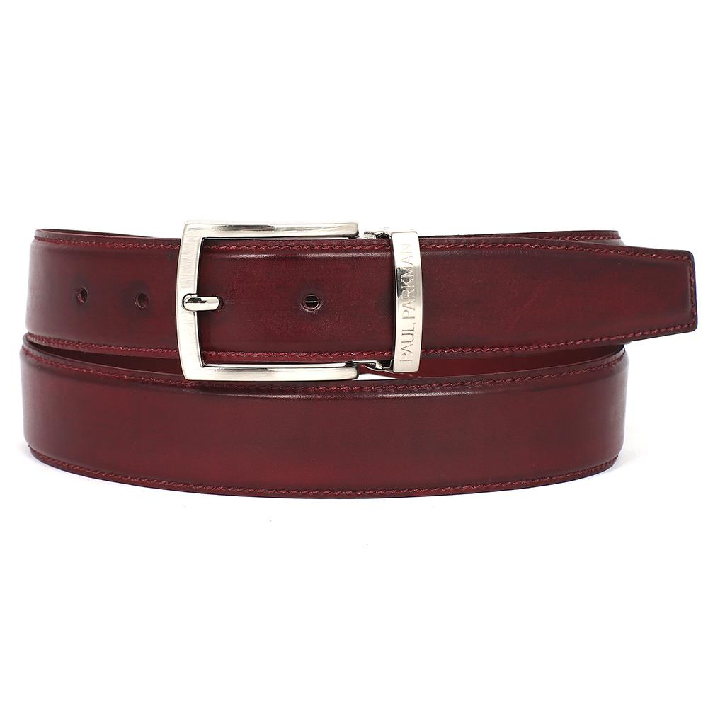 Men's Leather Belt  | Bordeaux
