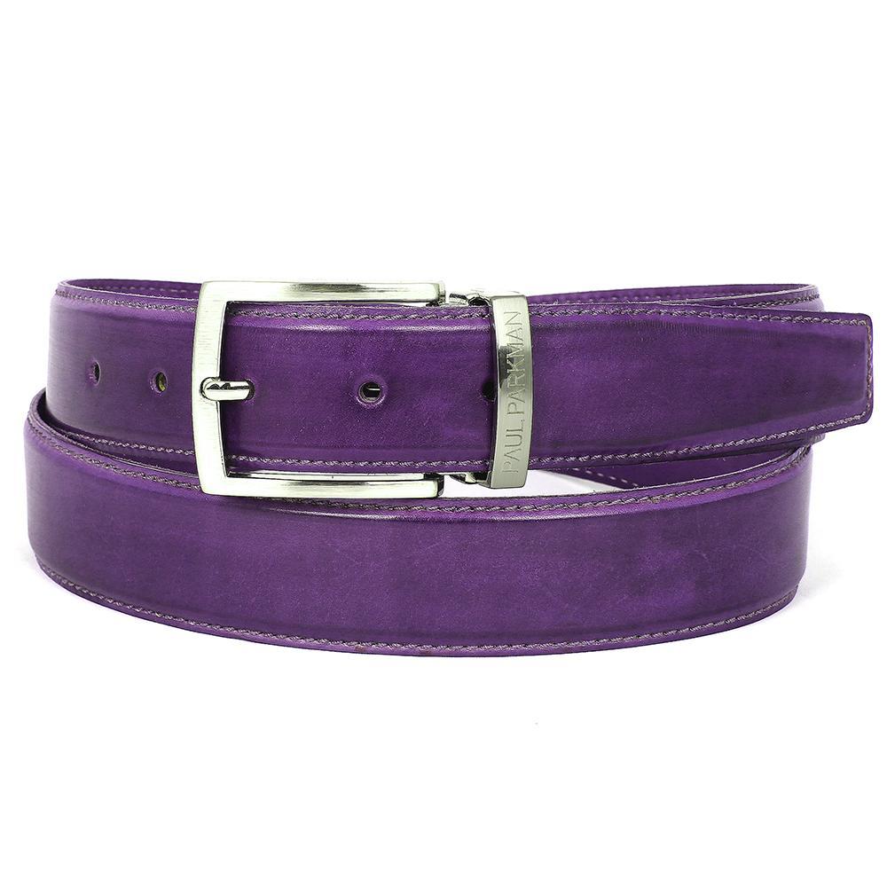 Men's Leather Belt | Purple