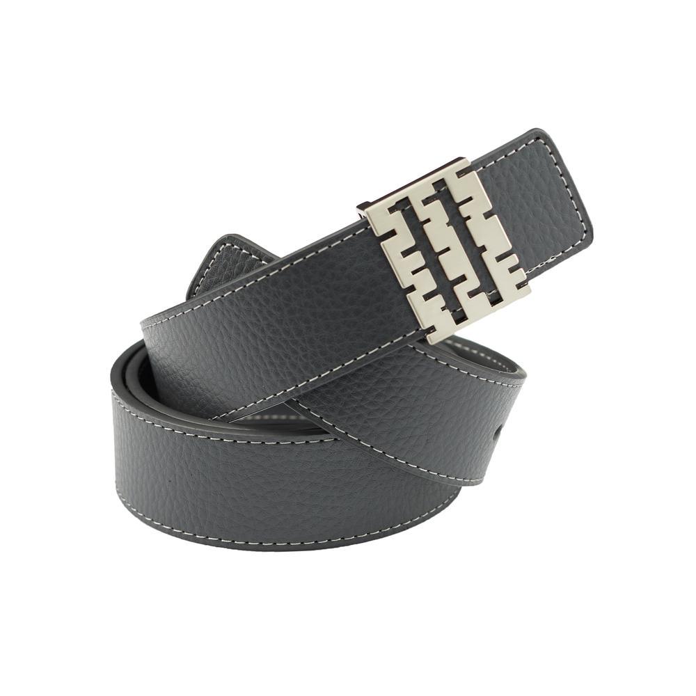 Breza Leather Belt | Gray | Accessories