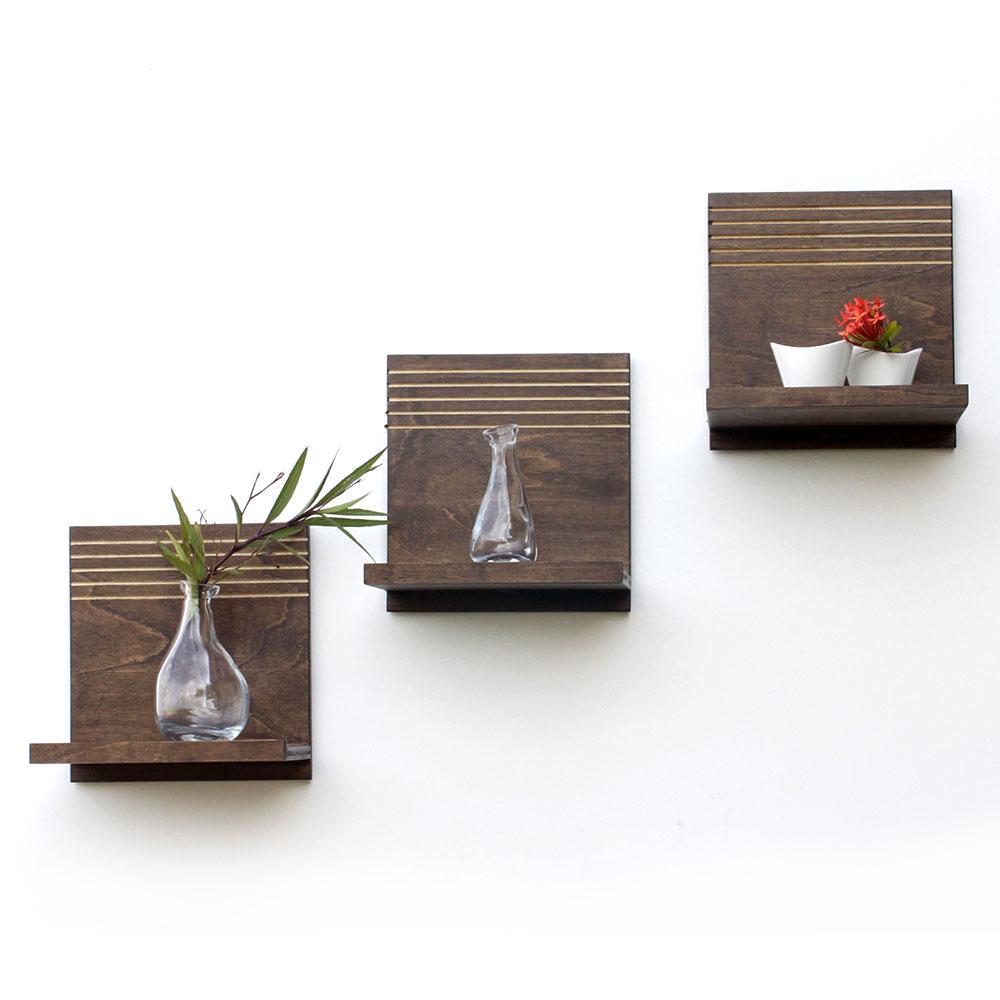 spa floating shelves  set of   wood butcher designs -
