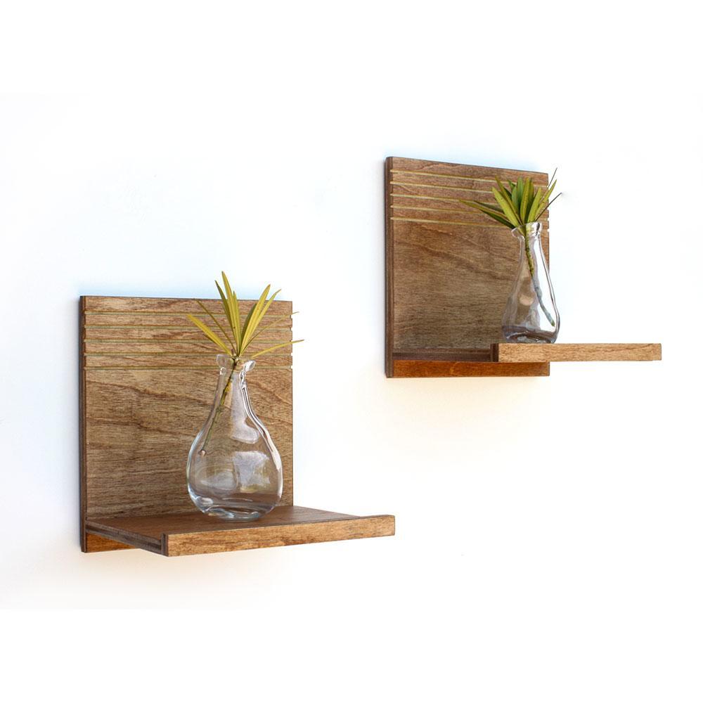 spa floating wood shelves  set of   wood butcher designs -