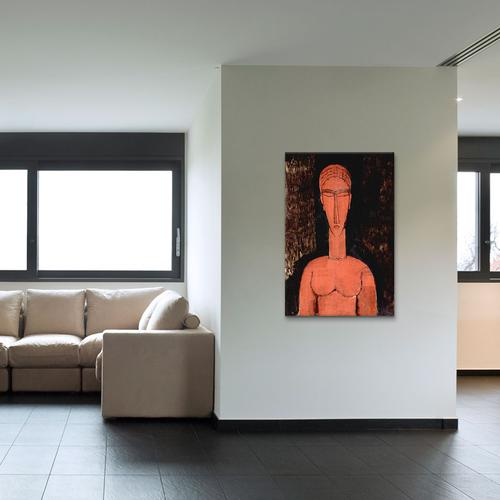 The Red Bust by Amedeo Modigliani Canvas Print