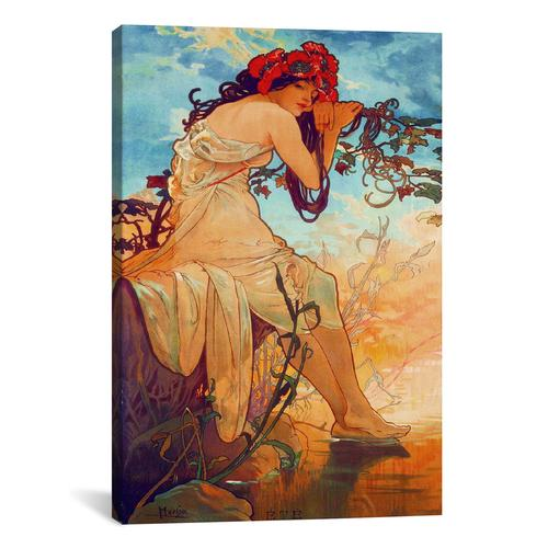 Summer by Alphonse Mucha Canvas Print
