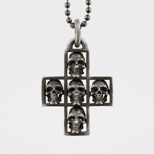 Skull Cross Pendant | Sterling Silver