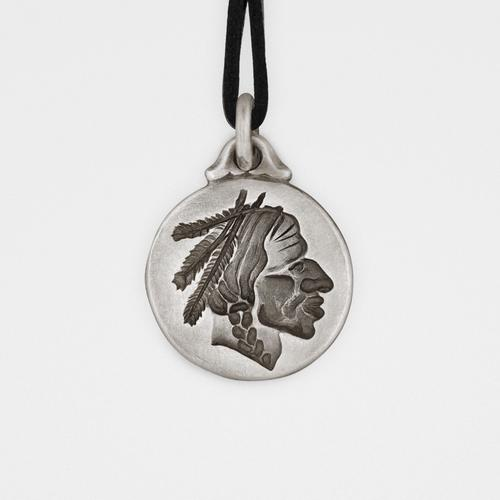Chief Pendant | Sterling Silver & Leather