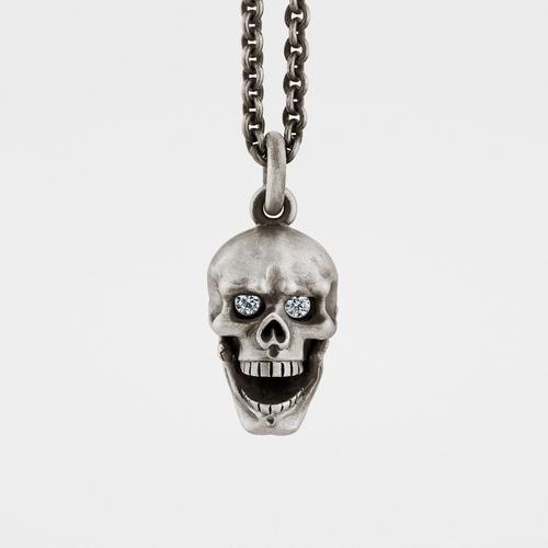 Skull Pendant   Hinged Jaw   Diamond Eyes