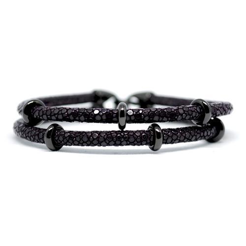 Bracelet | 2x Sting | Purple/Black