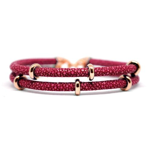 Bracelet | 2x Sting | Red Wine/Rose Gold