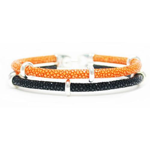 Bracelet   2x Sting   Orange/Black/Silver