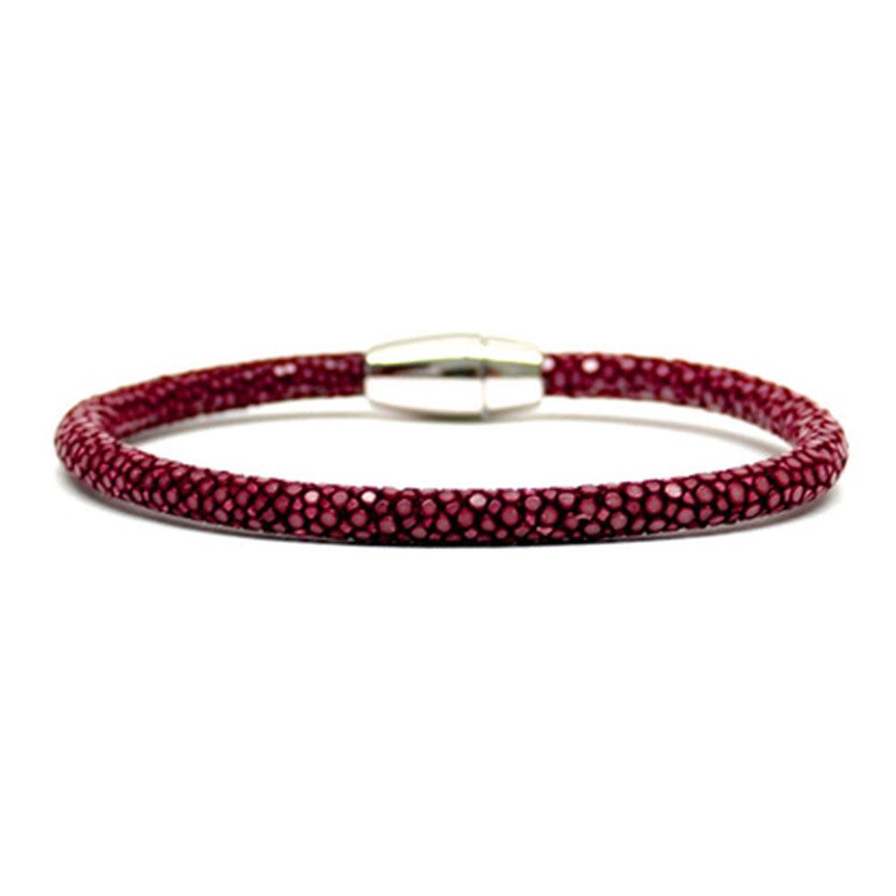 Single Stingray Bracelet | Red Wine | Double Bone
