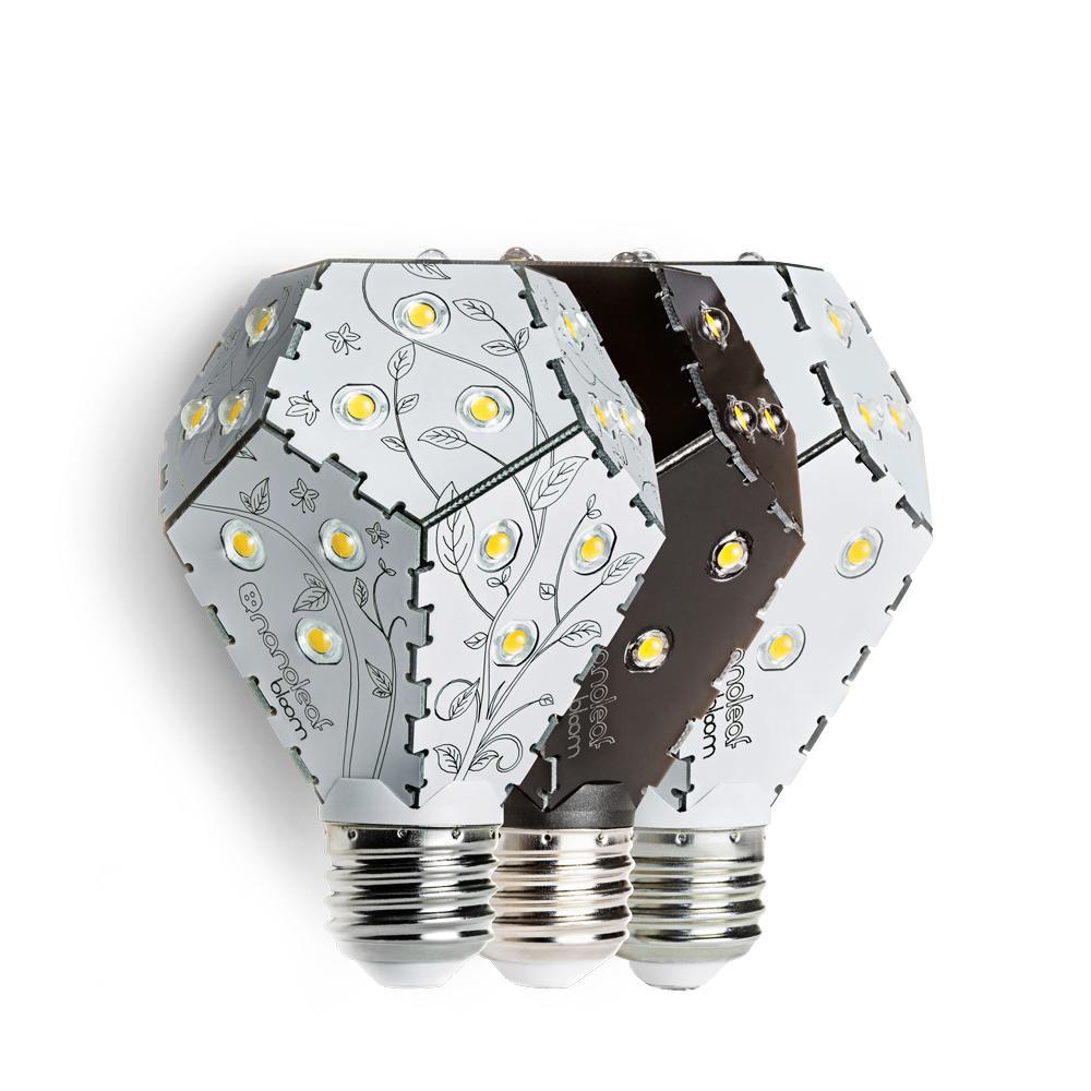 Dimmable LED Light Bulb   Nanoleaf Bloom   Black/White/Leaf