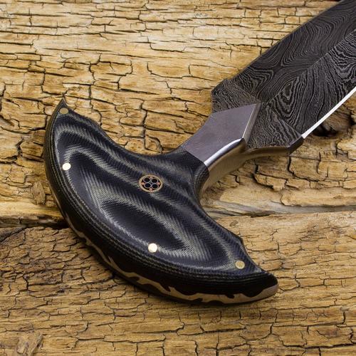 Monk's Dagger Handmade Damascus Steel Push Dagger   Forseti