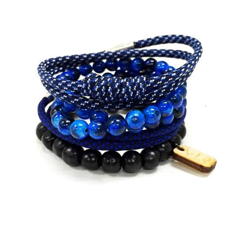 Variety Bracelet Set | Blue and Black