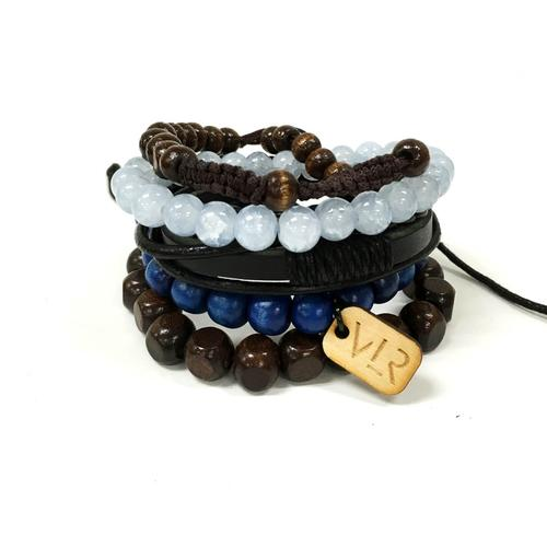 5 Stack Variety Set | Navy and Brown