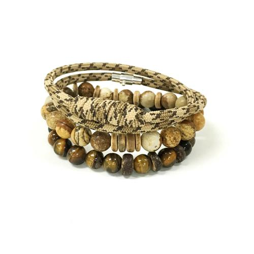Elite 3 pack | Tiger Eye and Picture Jasper